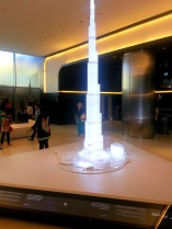The model in the lobby of the tower.