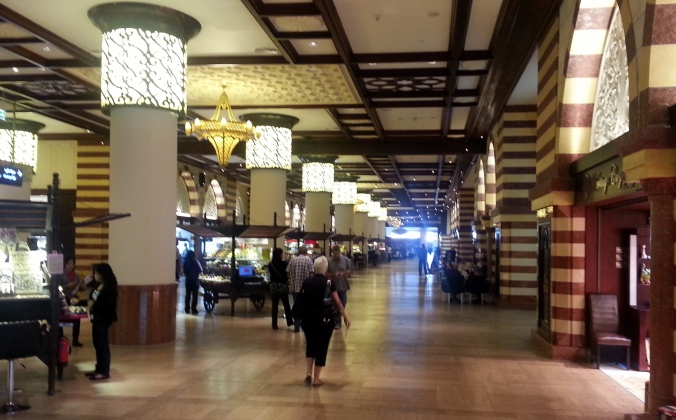 This is the Souk portion of the Dubai Mall.  Here is where you'll find authentic clothing, carpets, and jewelry.