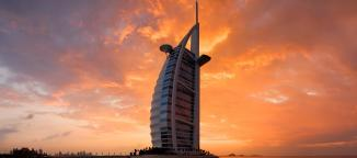 The Burj Al-Arab, a great place to stay when your palace is being renovated.