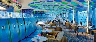 This is the interior of the Skyview Bar. To me, it reminded me of the 60's, and I couldn't help but feel a bit like Don Draper from Mad Men while we were here.