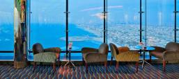 This is an unobstructed view of the coast of Dubai as seen from the Skyview Lounge. I enjoyed this view even more than the view from the Burj Khalifa, since we were out past the coastline.