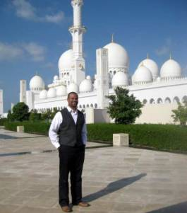 Me in front of Mosque.